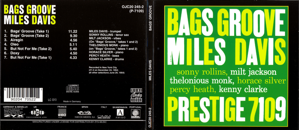 Bags Groove - Miles Davis