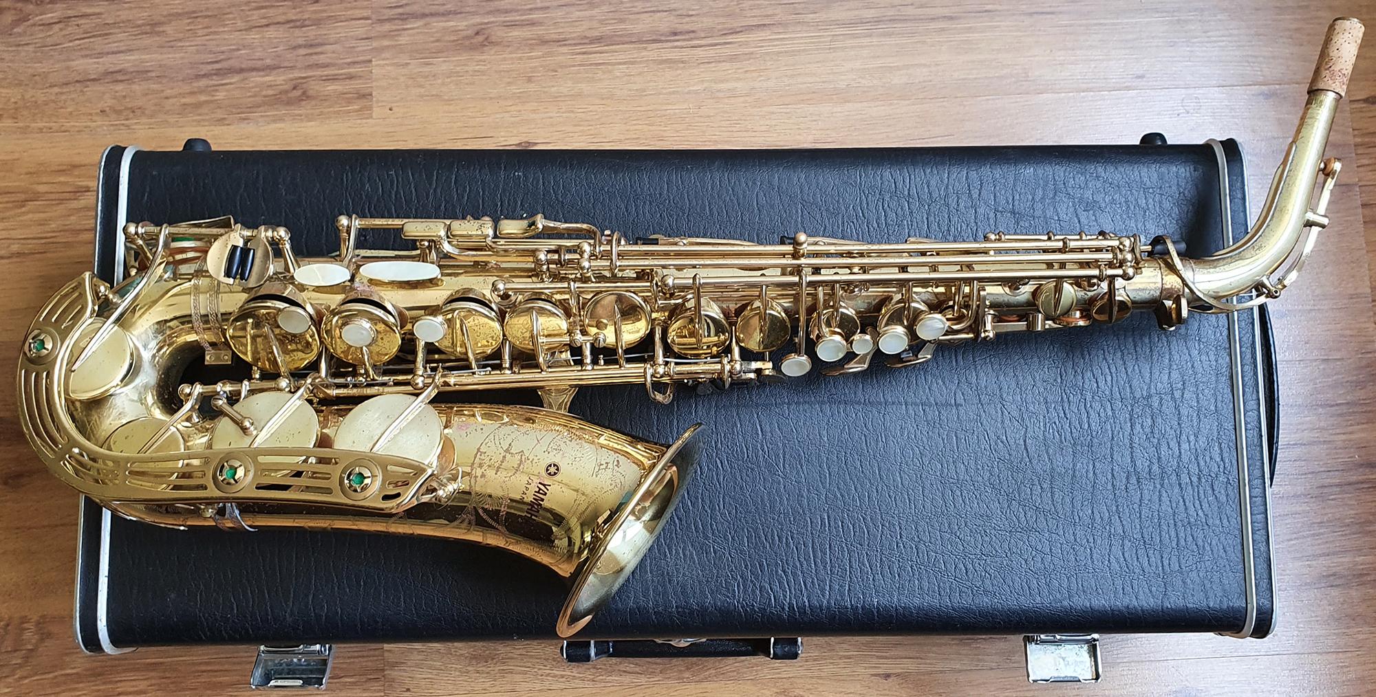 Yamaha YAS-61 Alto Saxophone (Purple Logo) - (2)